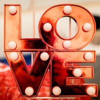 Valentines  Love  Logo  Light Bulbs Profile Picture