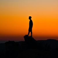 Alone  Man  Stone  Sunset Profile Picture