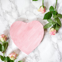 Valentines  Love Heart  Roses  Flowers  Marble Floor  Beautiful Profile Picture