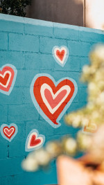 Love  Heart  Wall   Painting Status Picture